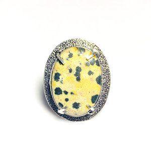Natural Dalmatian Jasper Ring
